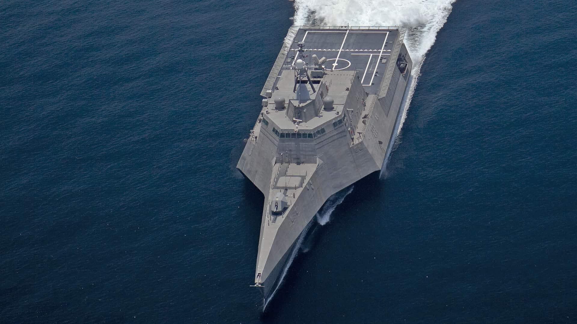 В США спущен на воду корабль USS Oakland
