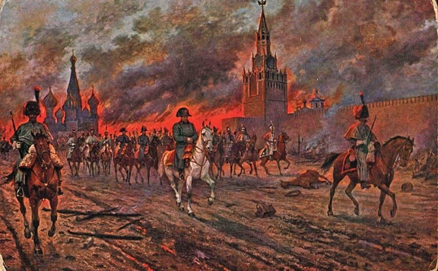 Napoleon pokidaet Kreml min