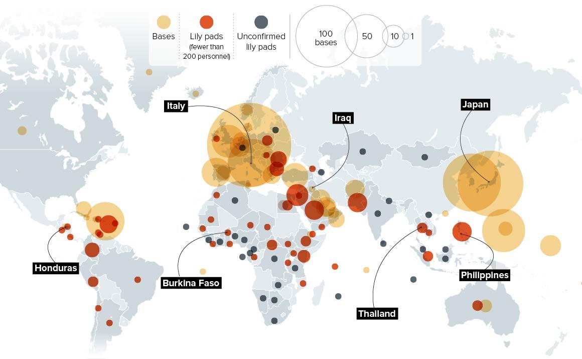 Сколько военных баз у США за рубежом?
