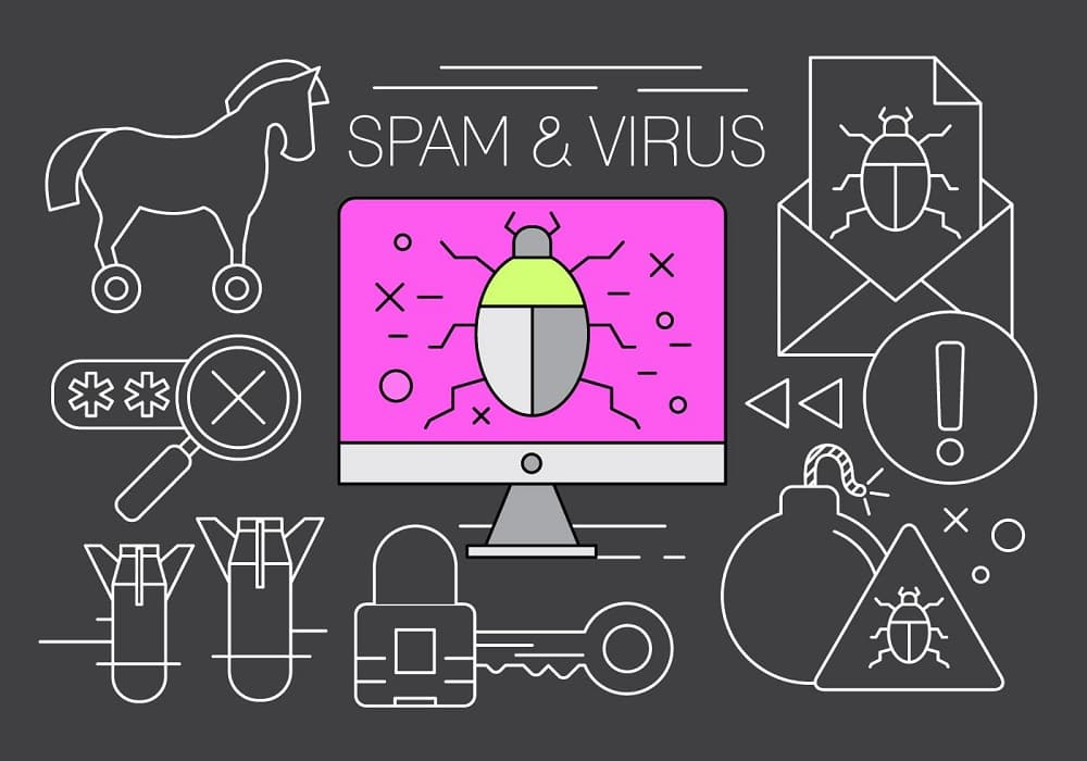 free spam and virus vector elements min