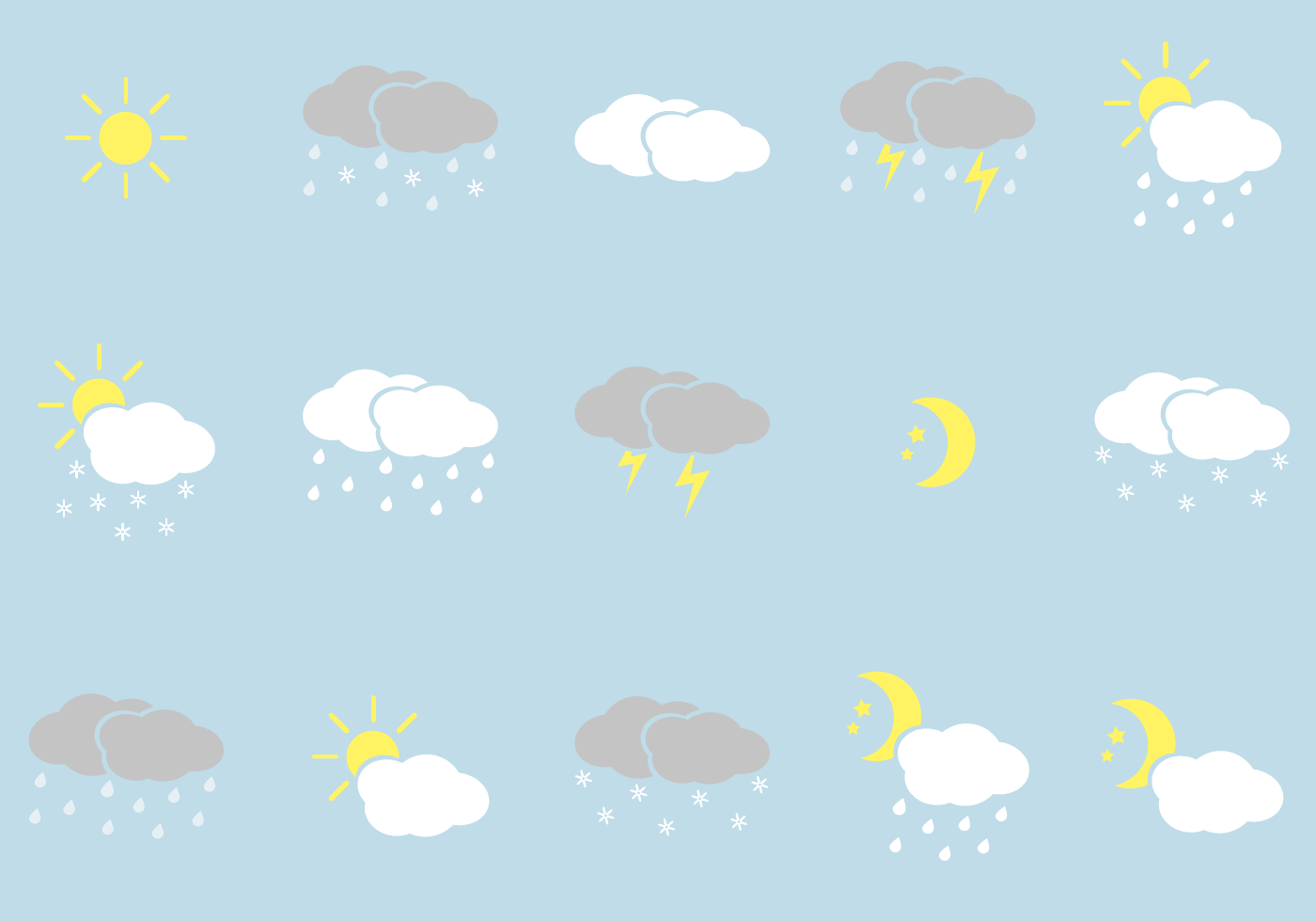 free weather icons vector min