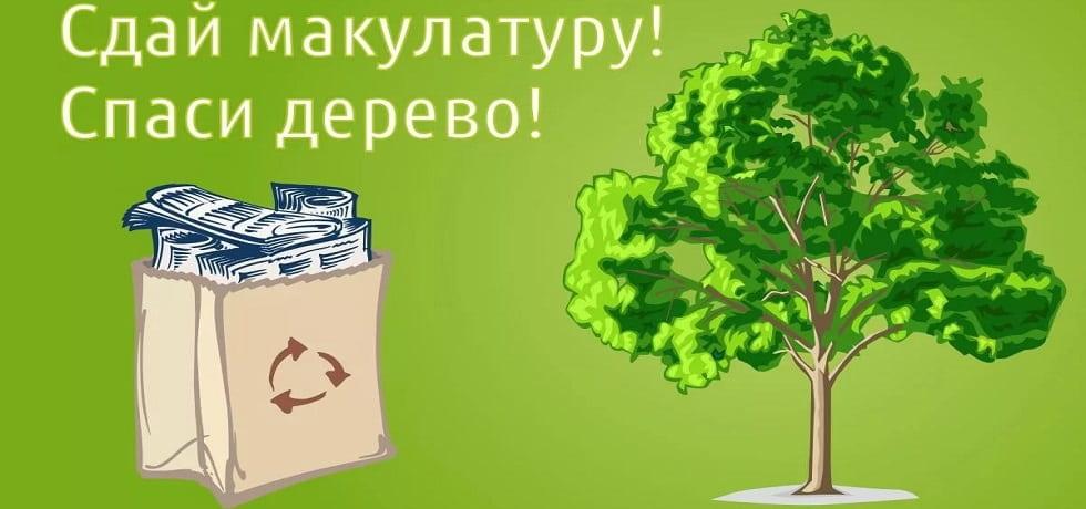 """Акция """"Сдай макулатуру-спаси дерево"""""""