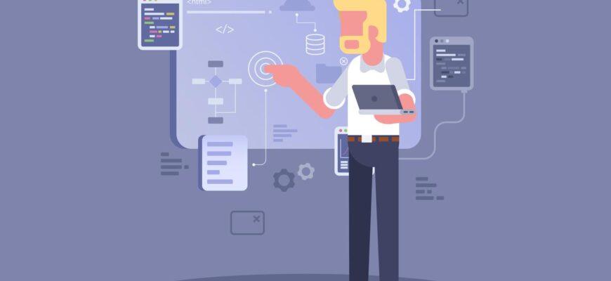 software engineers concept vector min